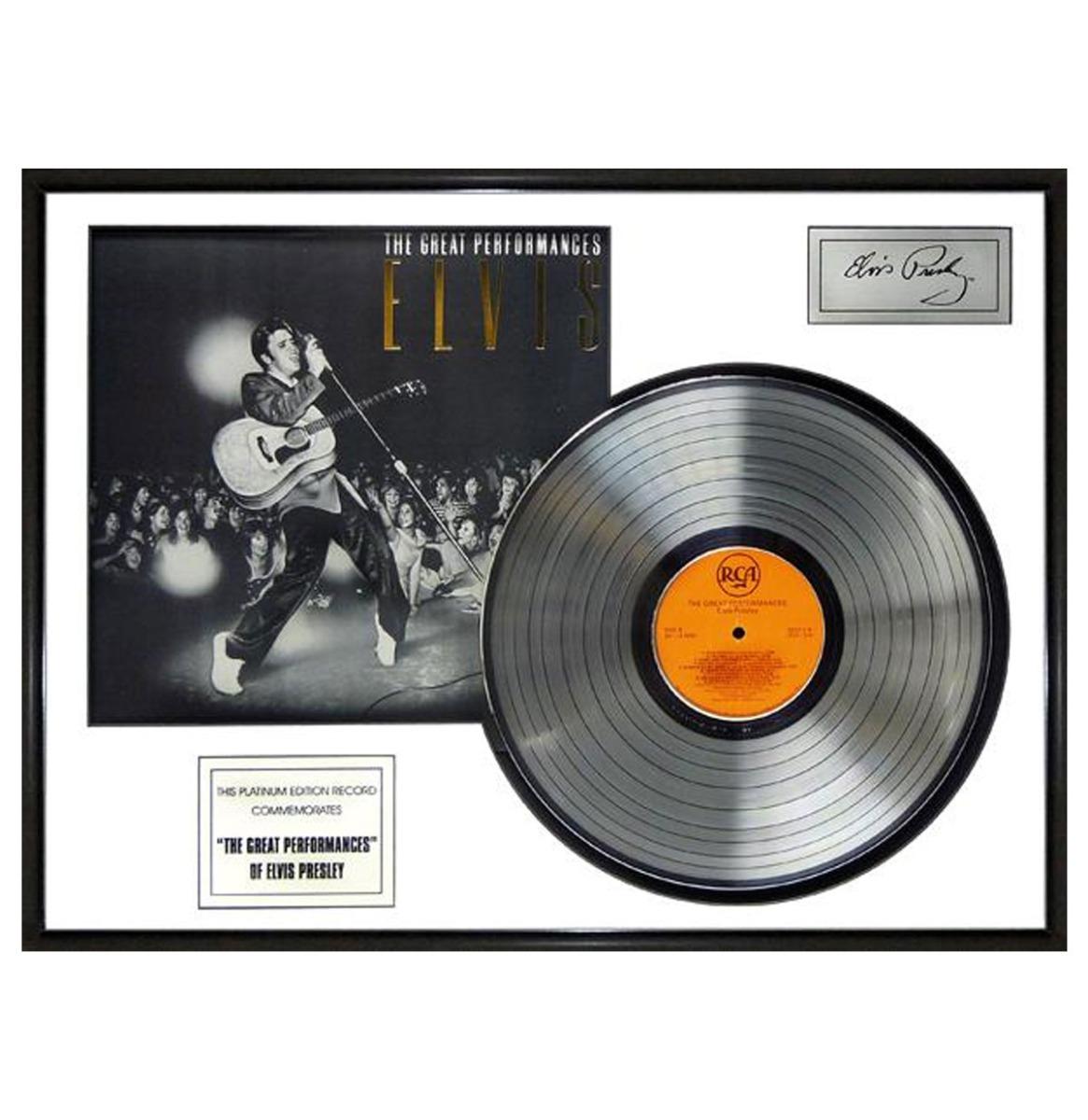 Elvis Presley - The Great Performances Platina Plaat LP