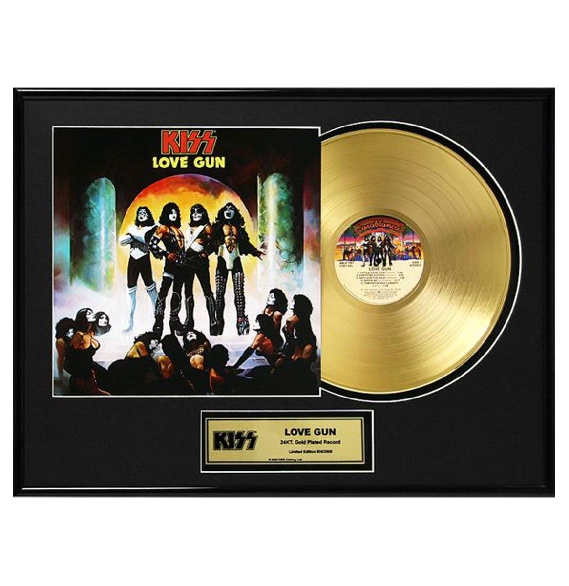 Kiss - Love Gun 24 Karaat Vergulde Gouden Plaat LP