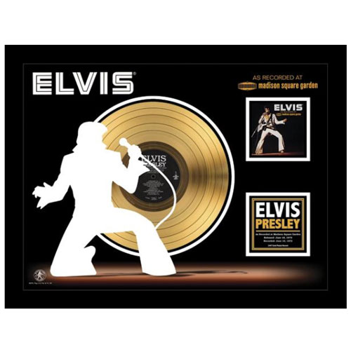 Elvis Presley As Recorded At Madison Square Garden Gouden Plaat