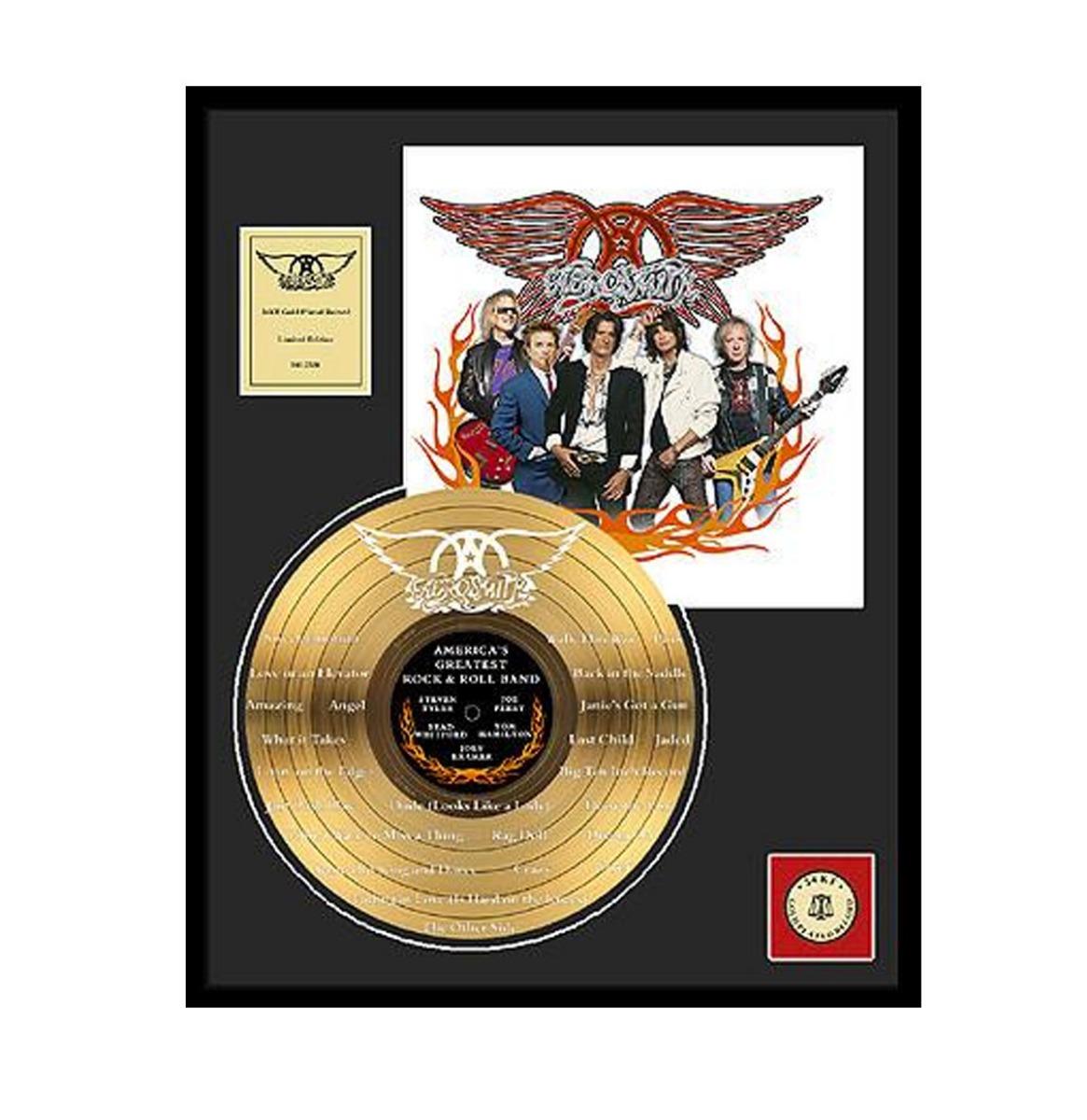 Aerosmith - Aerosmith 24 Karaat Gouden Plaat (LP)