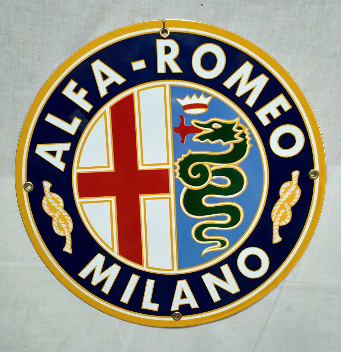 Alfa Romeo Milano Emaille Bord