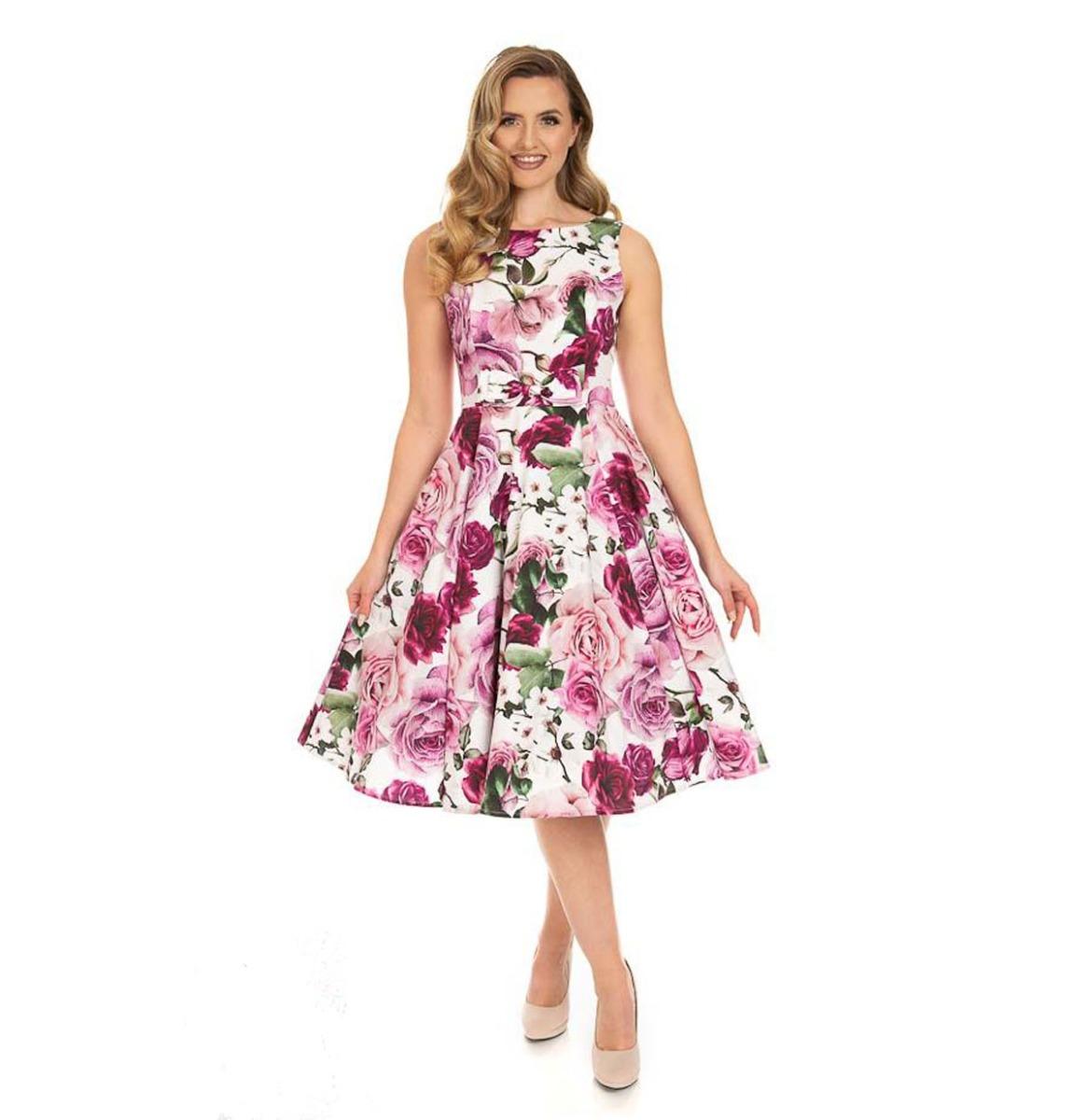 Hearts & Roses Alice Floral Swing Jurk Roze