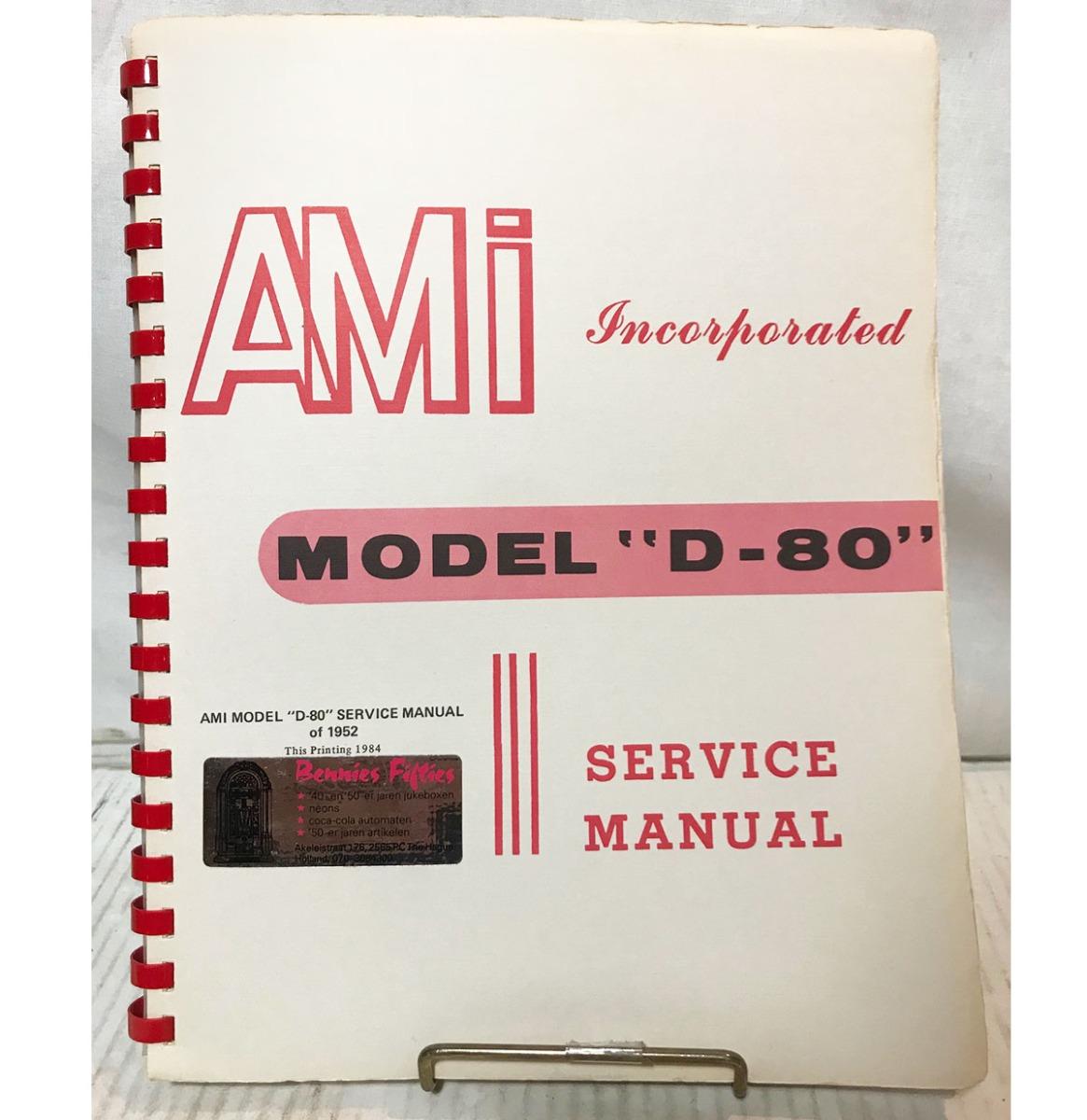 Service Manual - Ami Jukebox Model D-80