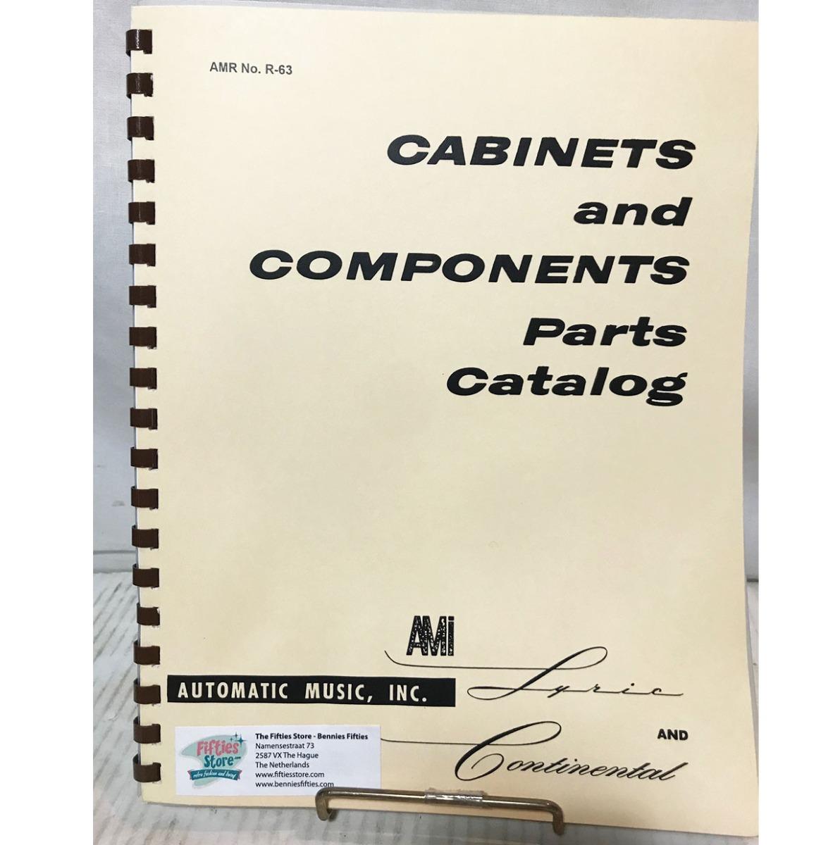 Cabinets And Components Parts Catalog Ami Jukebox Model Lyric & Continental