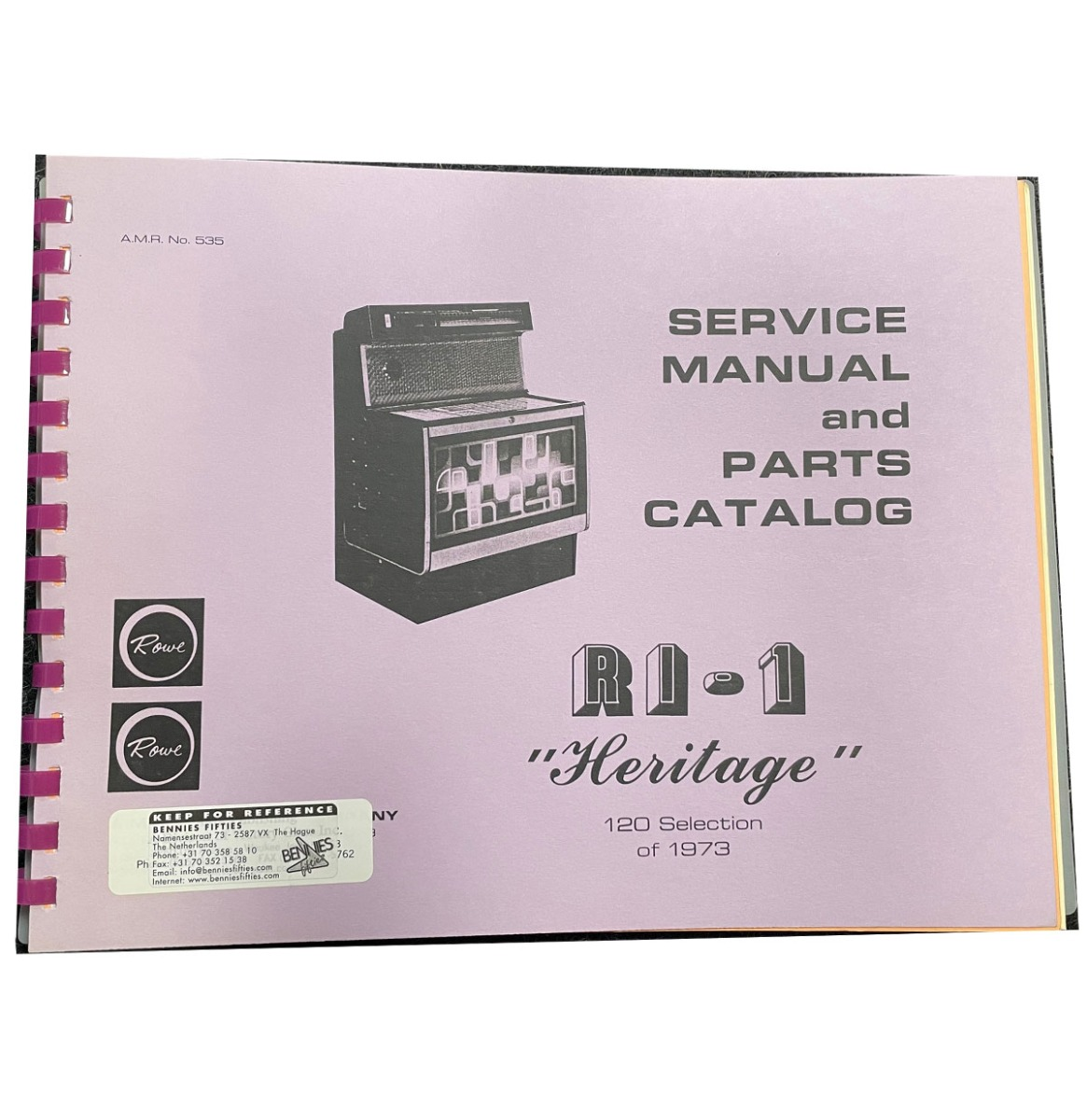 Rowe Ami R-1 Heritage - Service Manual And Parts Catalog