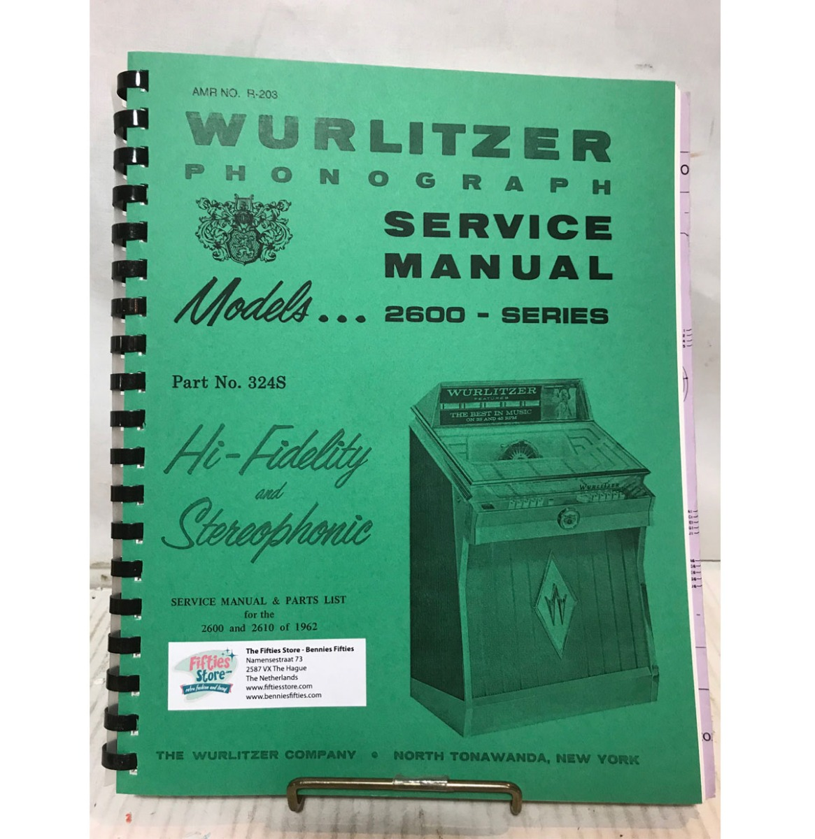 Wurlitzer 2600 Jukebox Service Manual