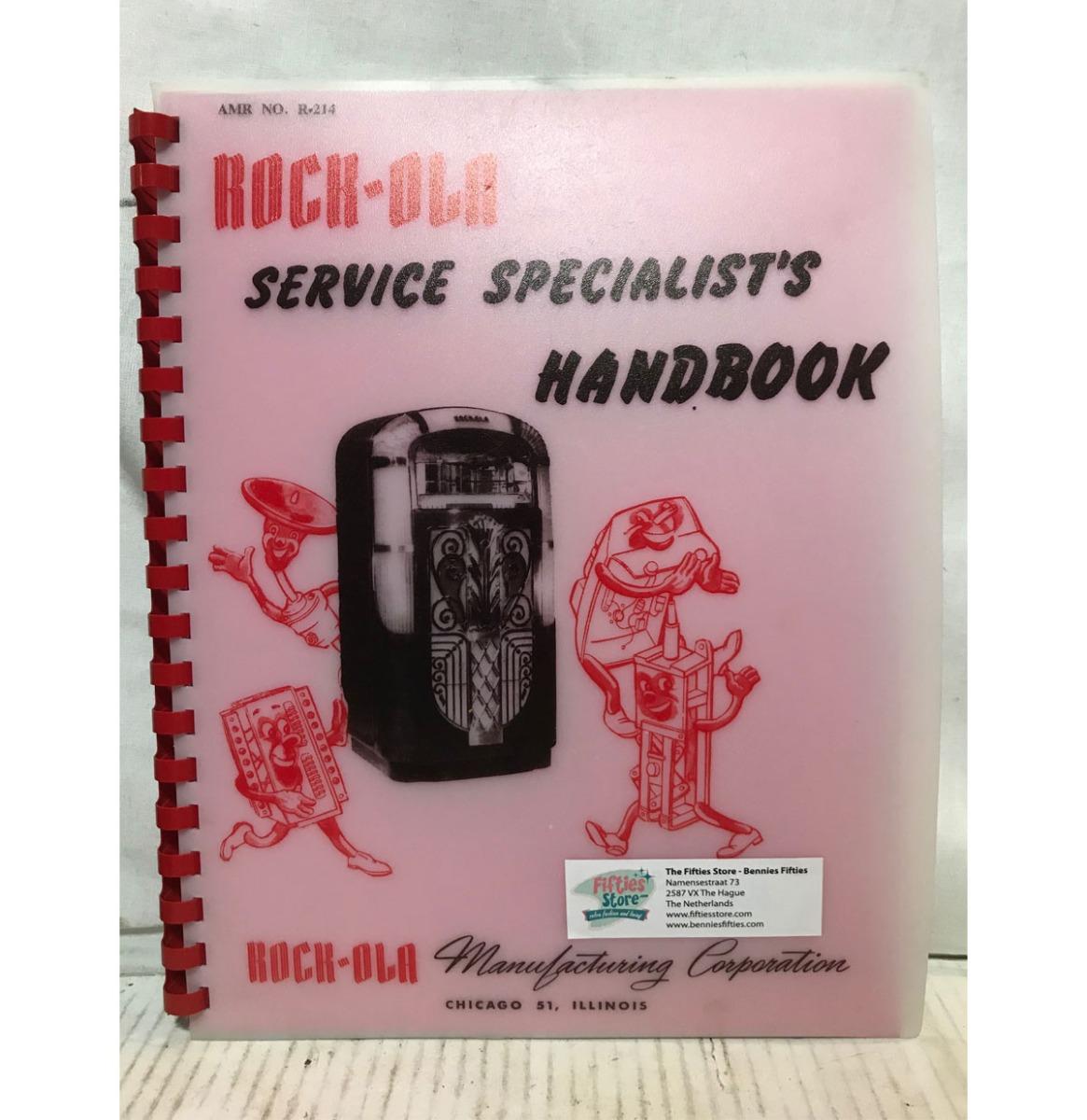 Rock-Ola 1422, 1426 and 1428 Jukebox Service Specialist Handbook