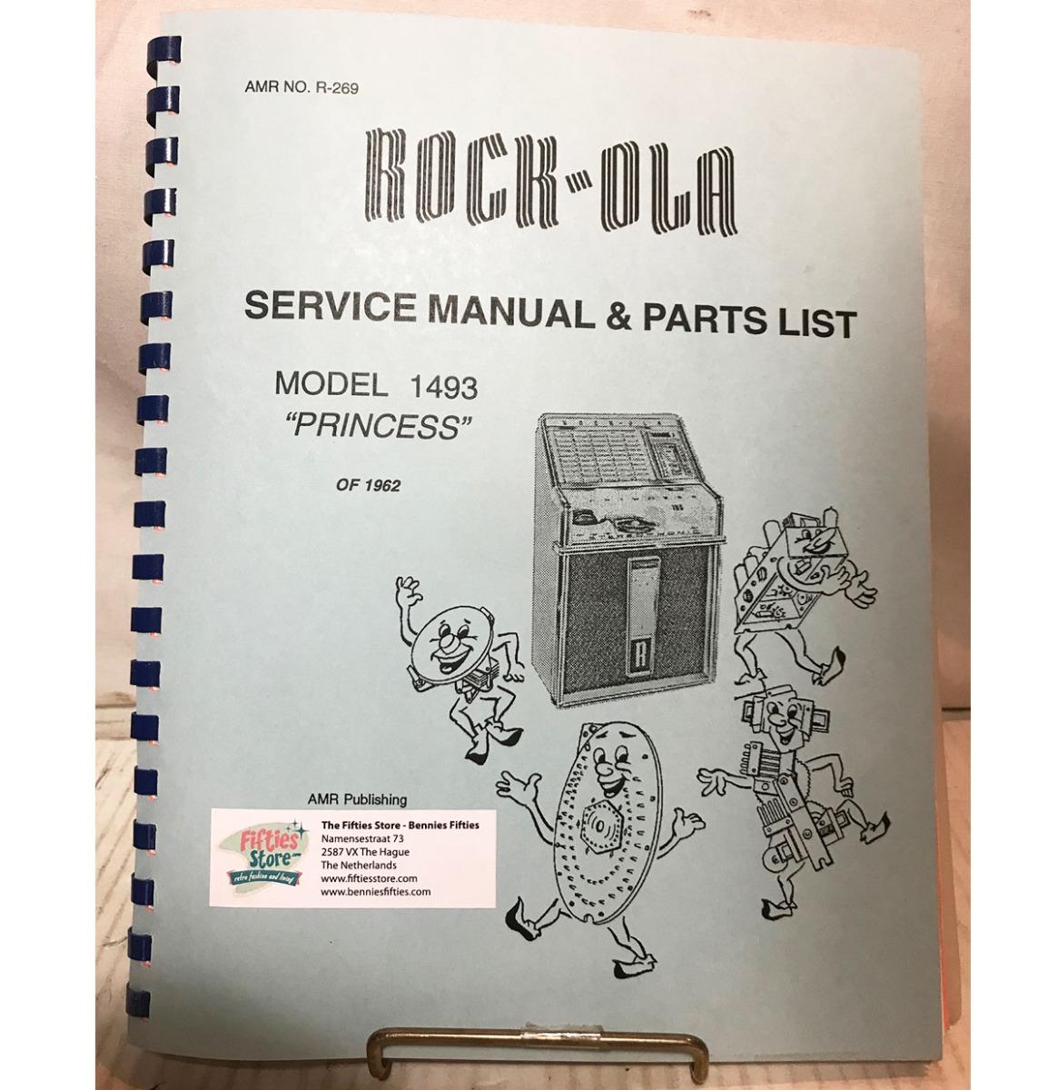 Service Manual - Rock-Ola Jukebox Model 1493 'Princess'