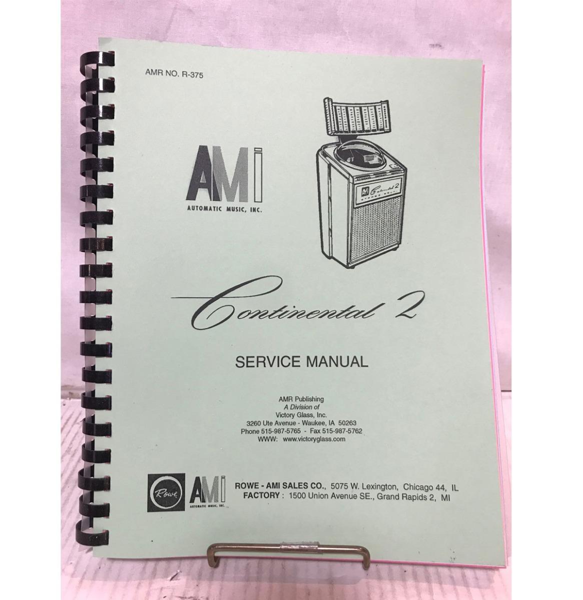 AMI Continental 2 Jukebox Service Manual