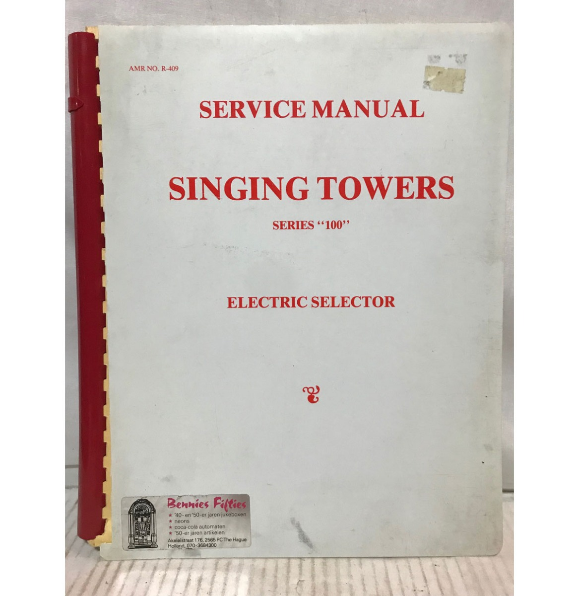 """AMI Singing Towers Series """"100"""" Electric Selector Service Manual"""