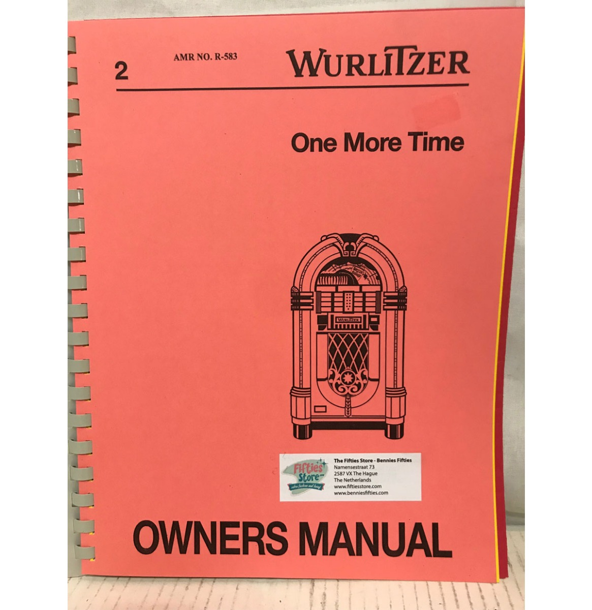 Wurlitzer One More Time Manual