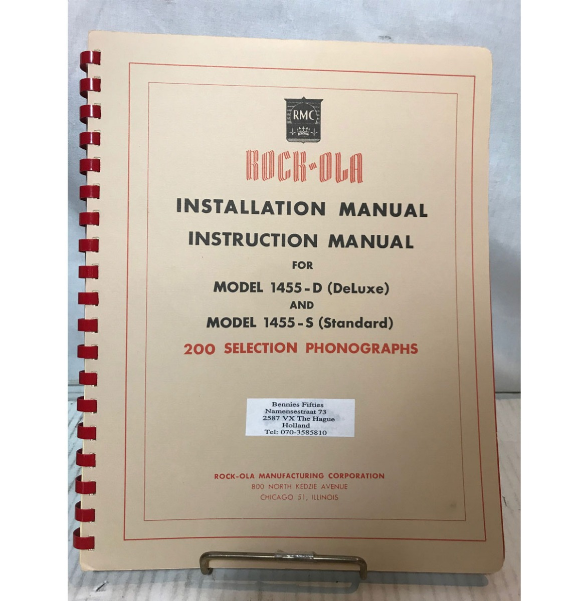 Rock-Ola 1455-D And 1455-S Jukebox Installation Manual