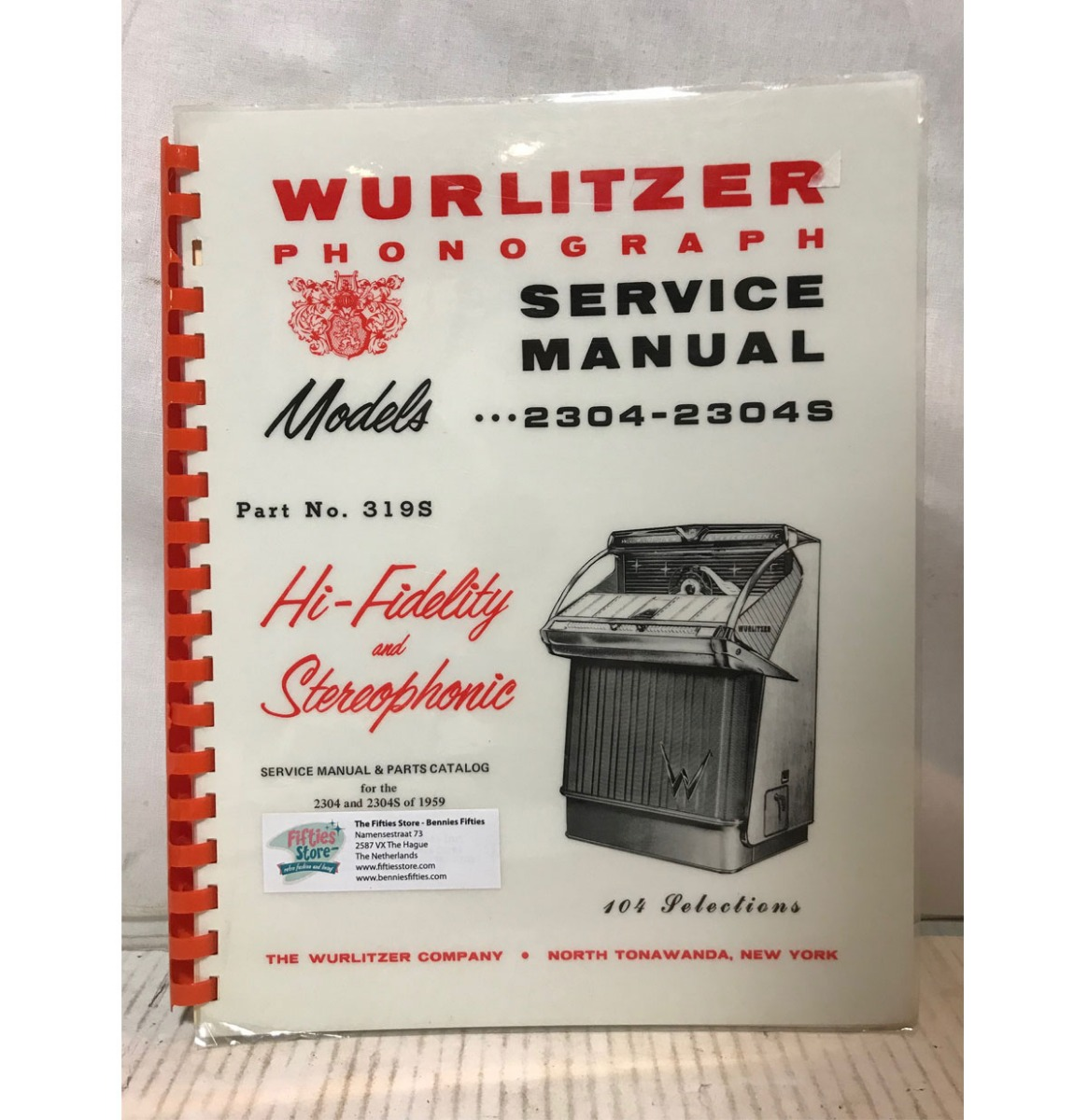 Wurlitzer 2304(S) Jukebox Service Manual