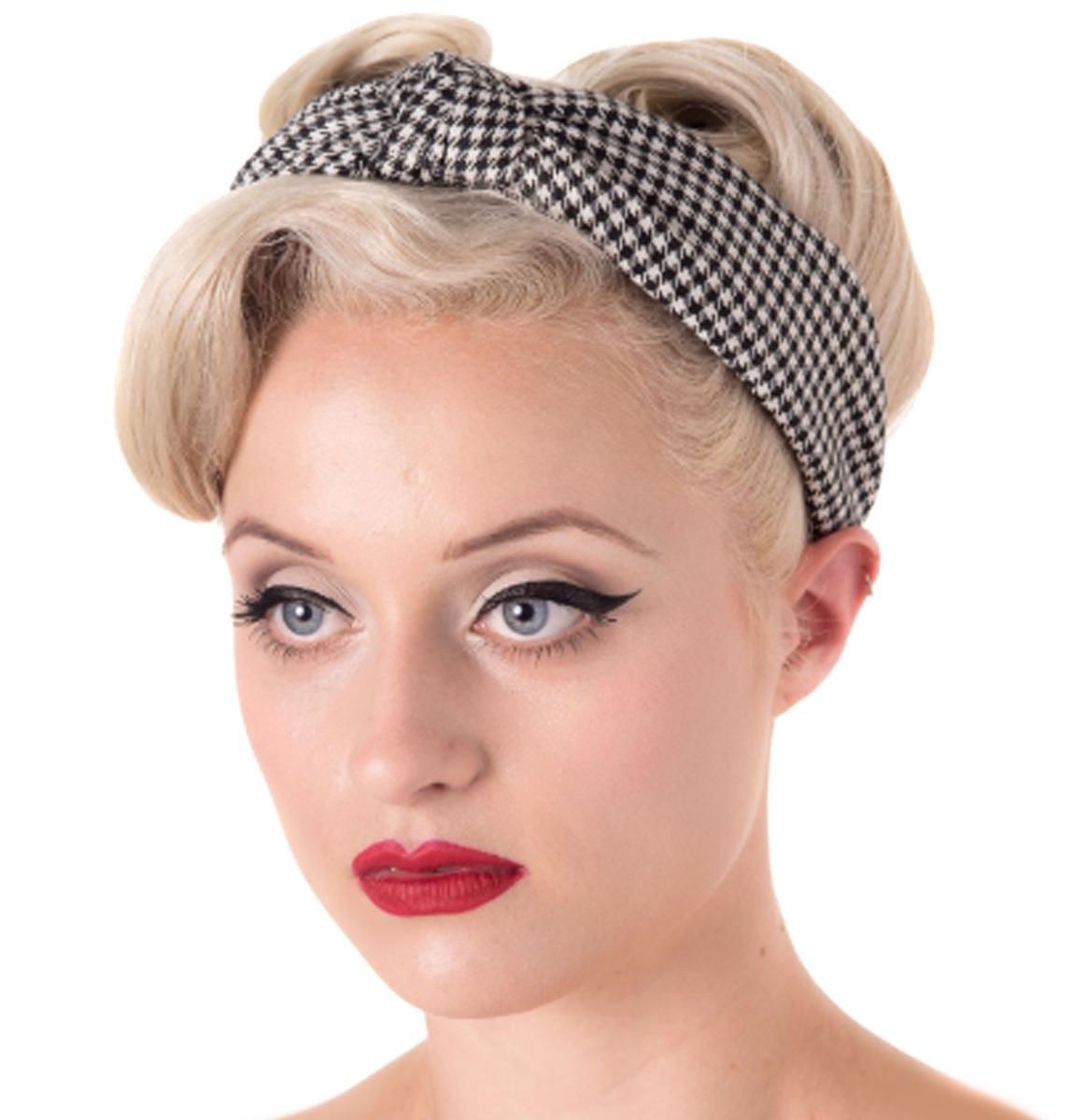 Arabella Headband Black - White