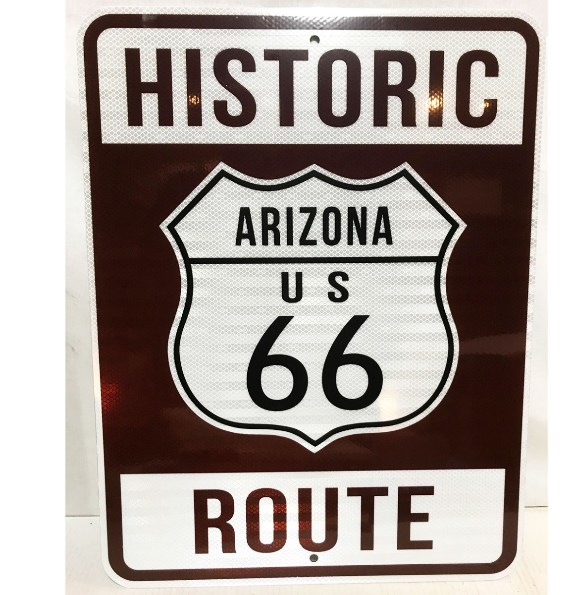 Historic Route 66 Arizona Snelweg Bord - Reflecterend