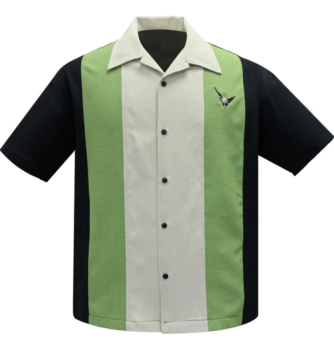 Steady Clothing Atomic Mad Men Shirt Zwart / Appel / Beige