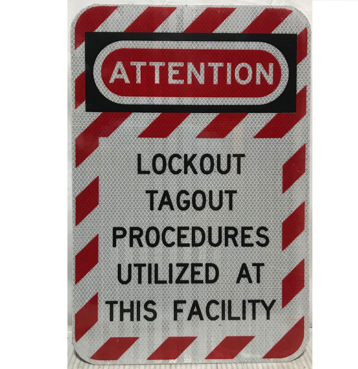 Attention Lockout Tagout Procedures Utilized At This Facility - Origineel