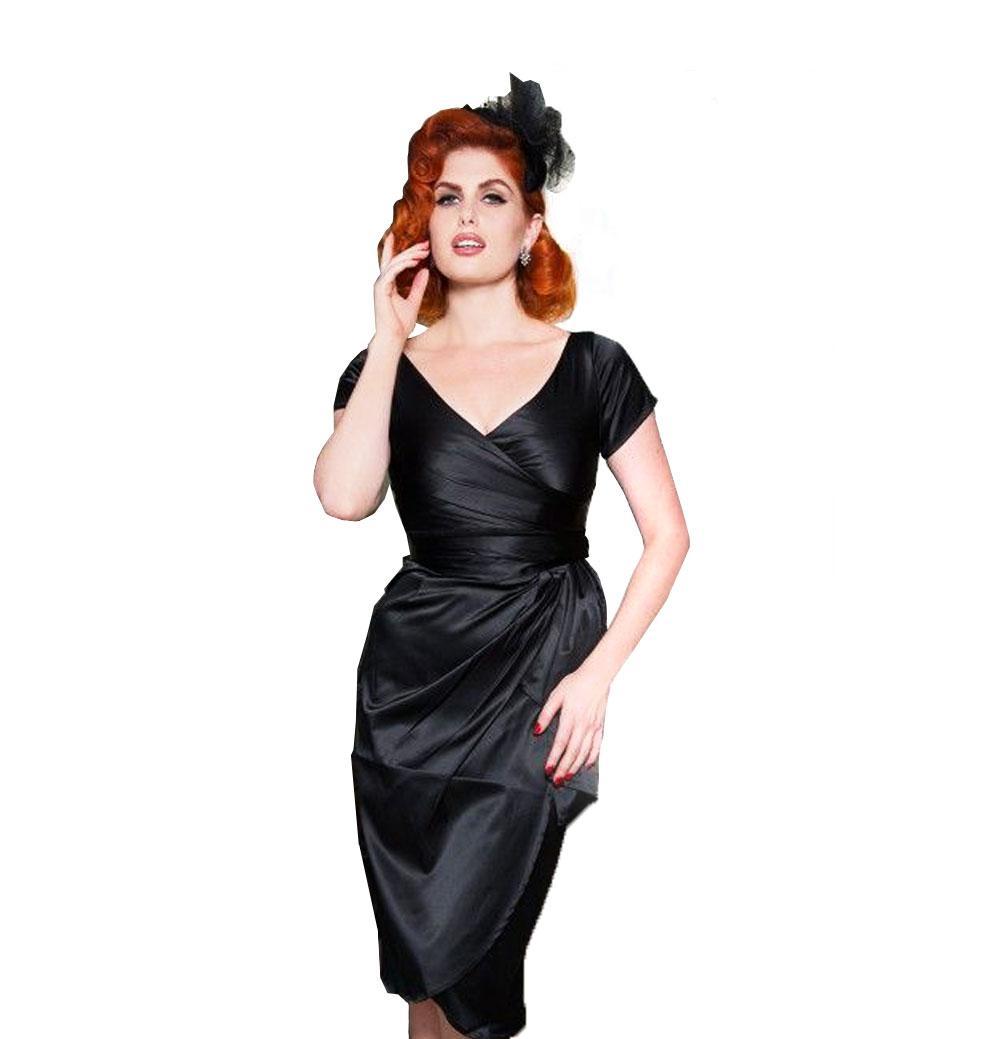 Ava Dress Zwart