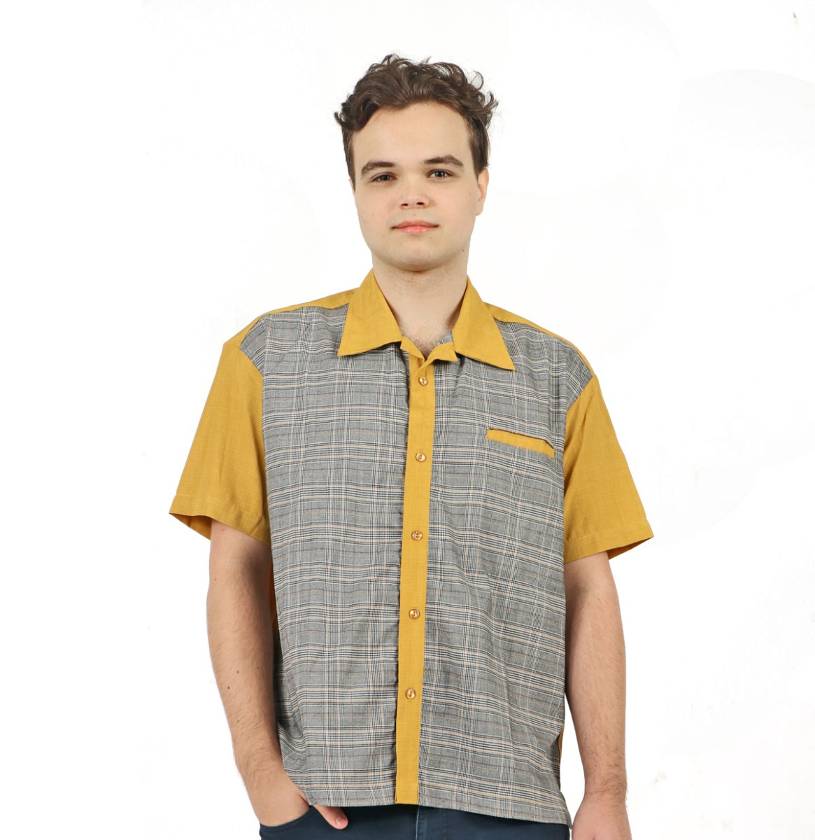 Bad News Felix Shirt Mustard