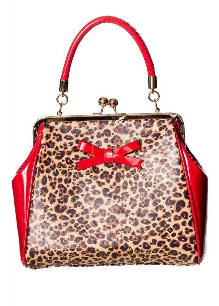 Money Honey Bag Luipaardprint - Rood