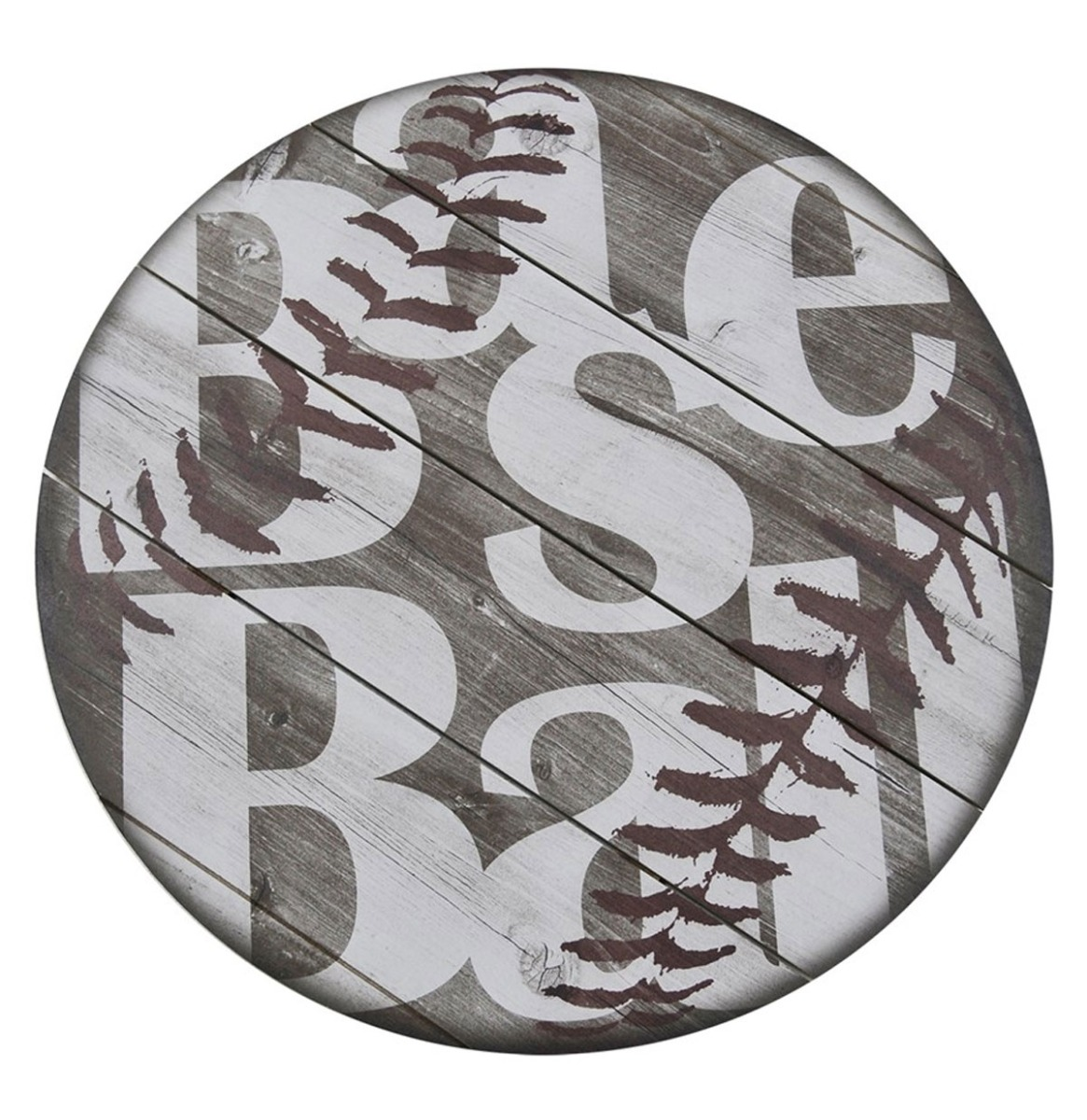 Sports Baseball Houten Wandecor 38 cm
