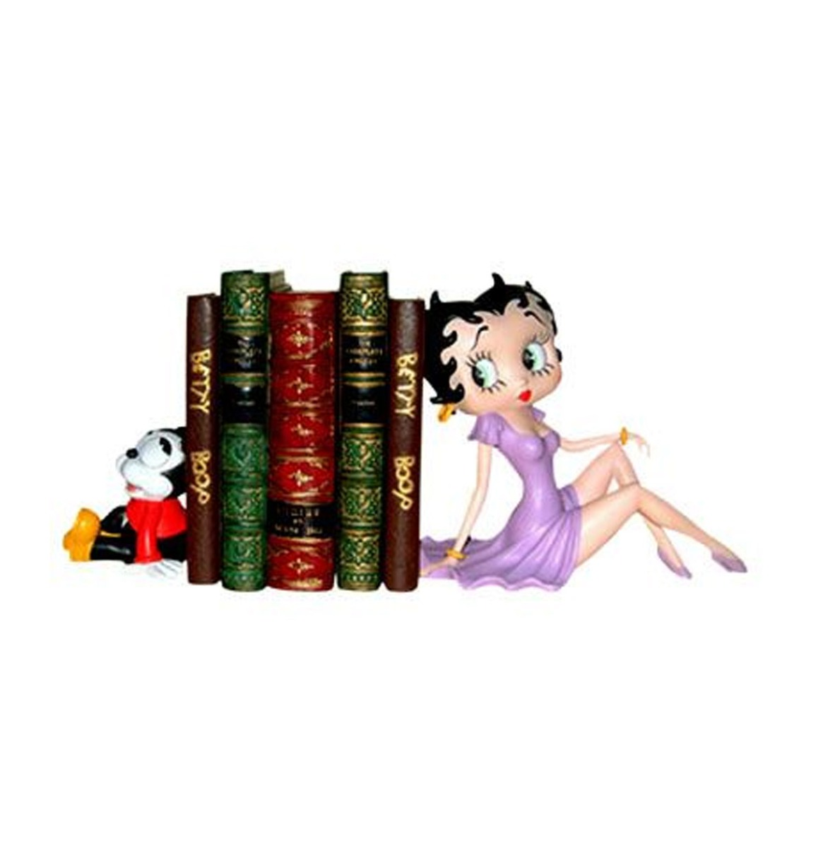 Betty Boop en Bimbo Resin Boekensteunen Set