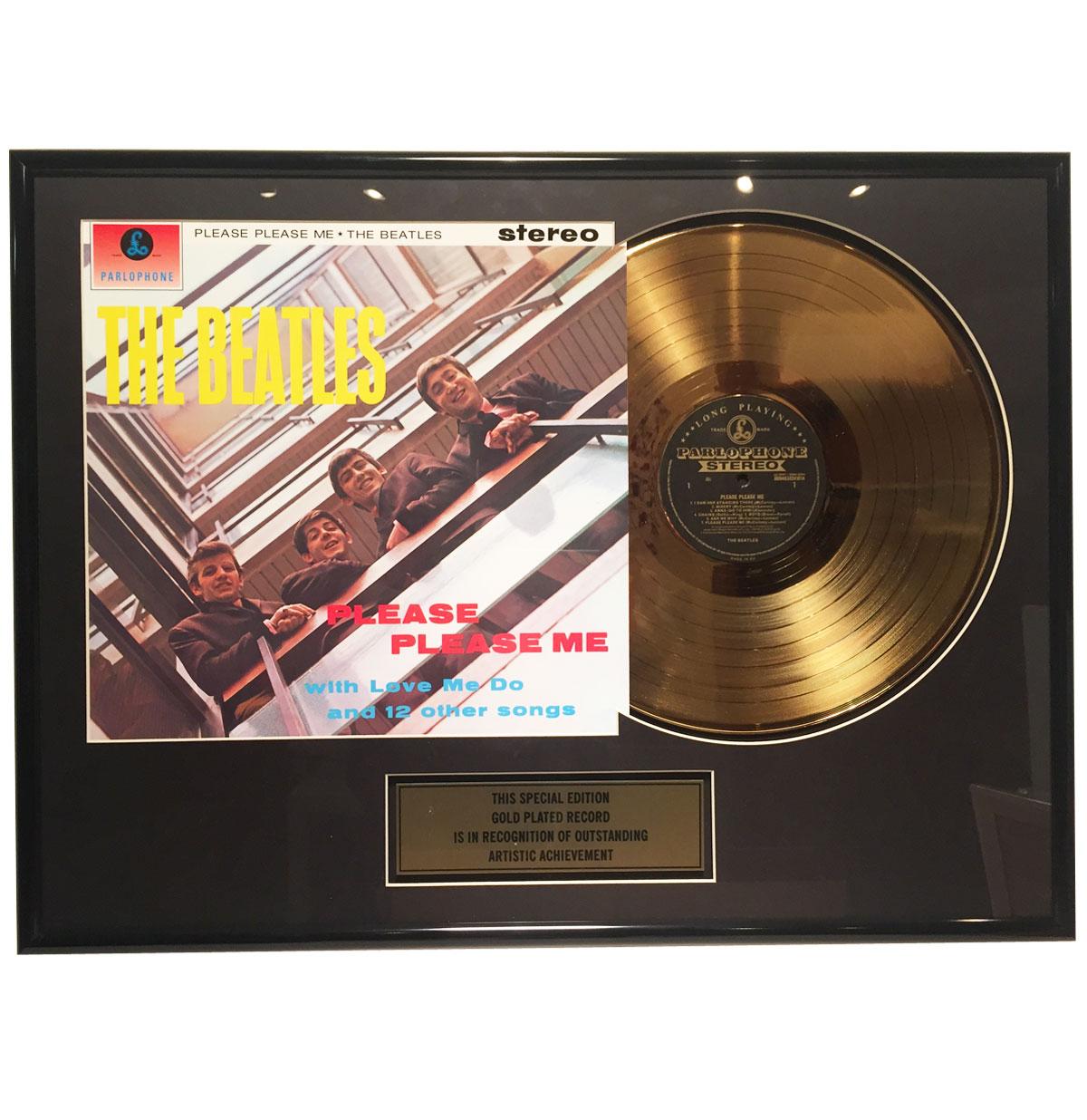 The Beatles - Please Please Me 24 karaats Gouden Plaat (LP)