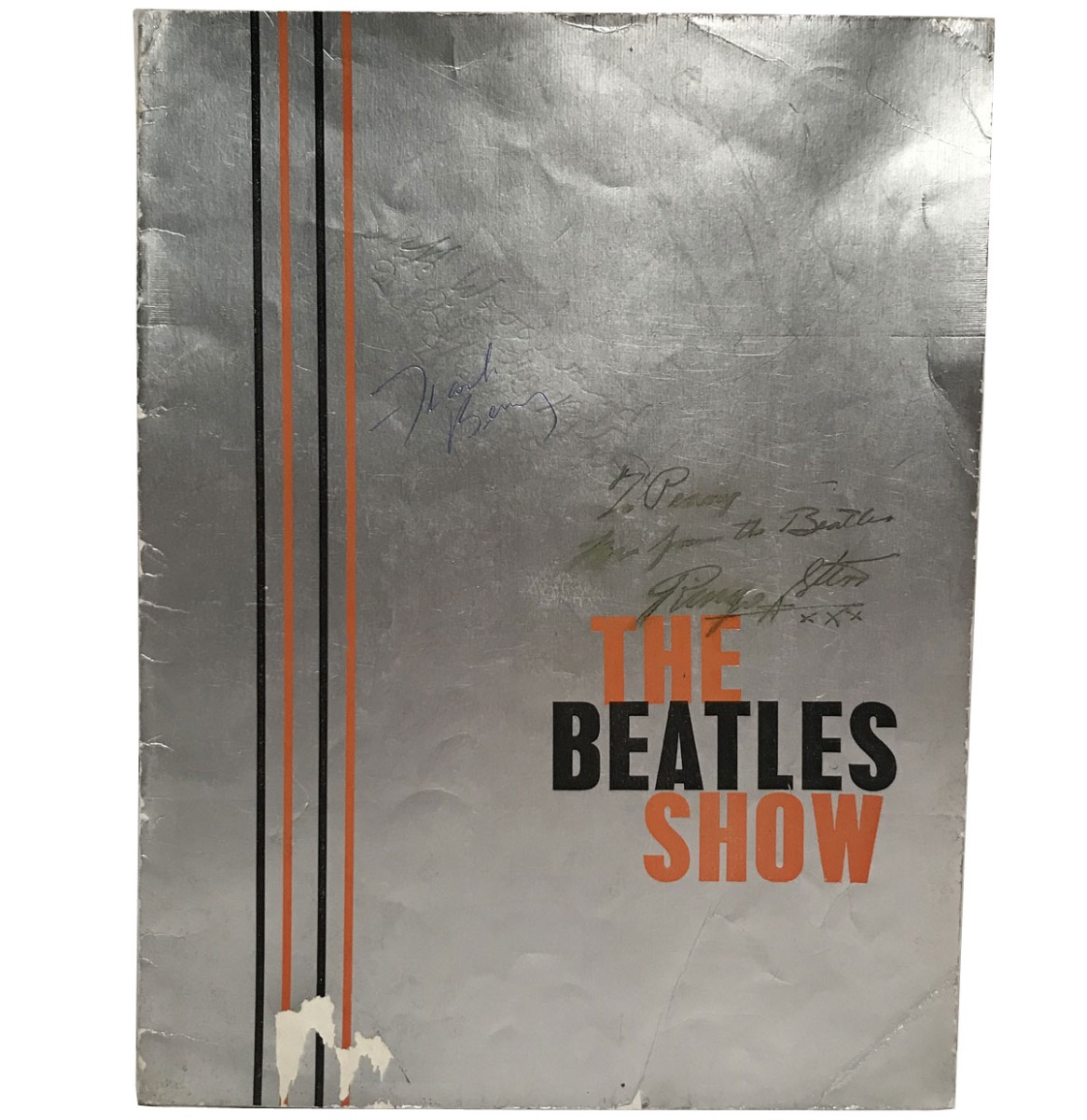 The Beatles Show 1963 Programma Boekje Gesigneerd Door Ringo Starr, Frank Berry En Peter Jay