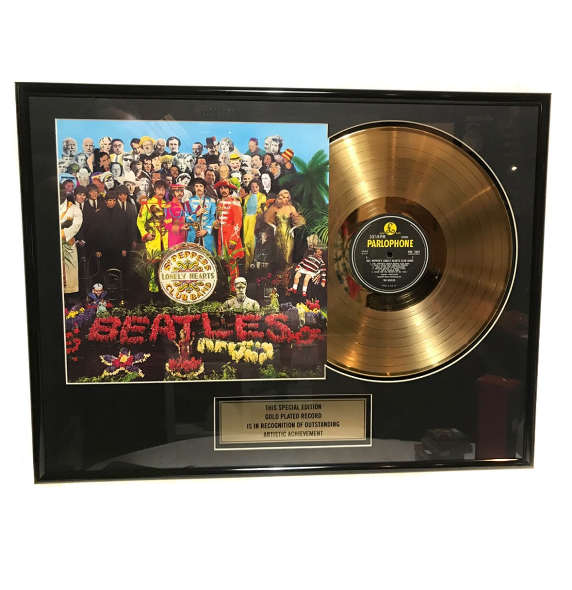 The Beatles - SGT Pepper 24KT Gouden Plaat (LP)