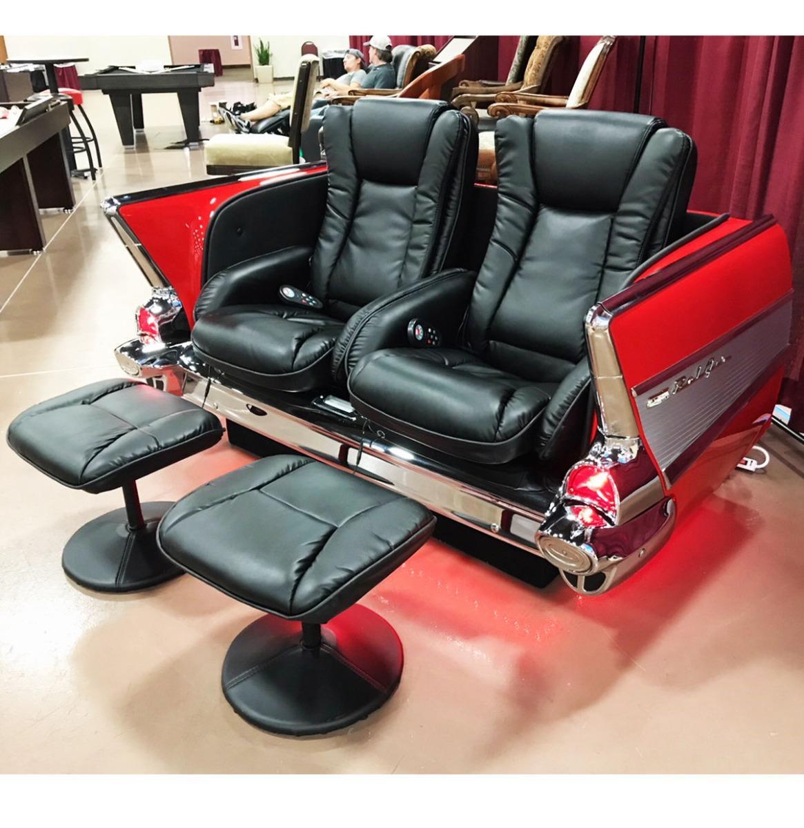 1957 Chevy Bank Met Ligstoelen - Gemaakt Van Een Echte Chevy