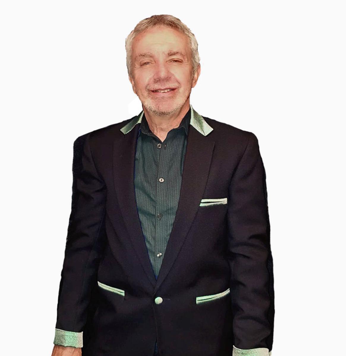 Box Jacket Black / Green Glitter Size 46