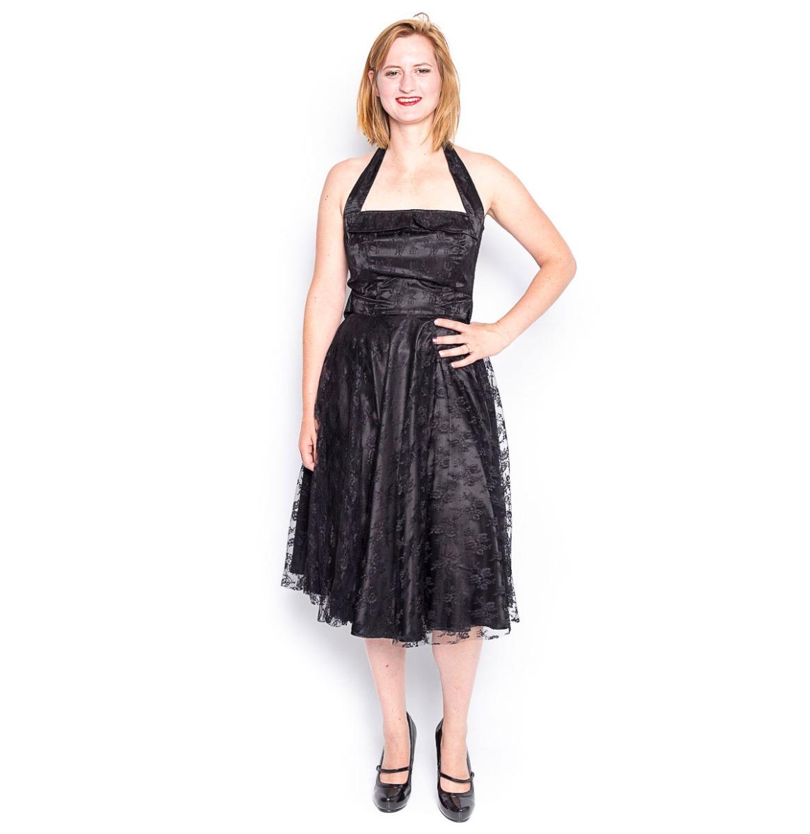 Mina Dress Lace Zwart