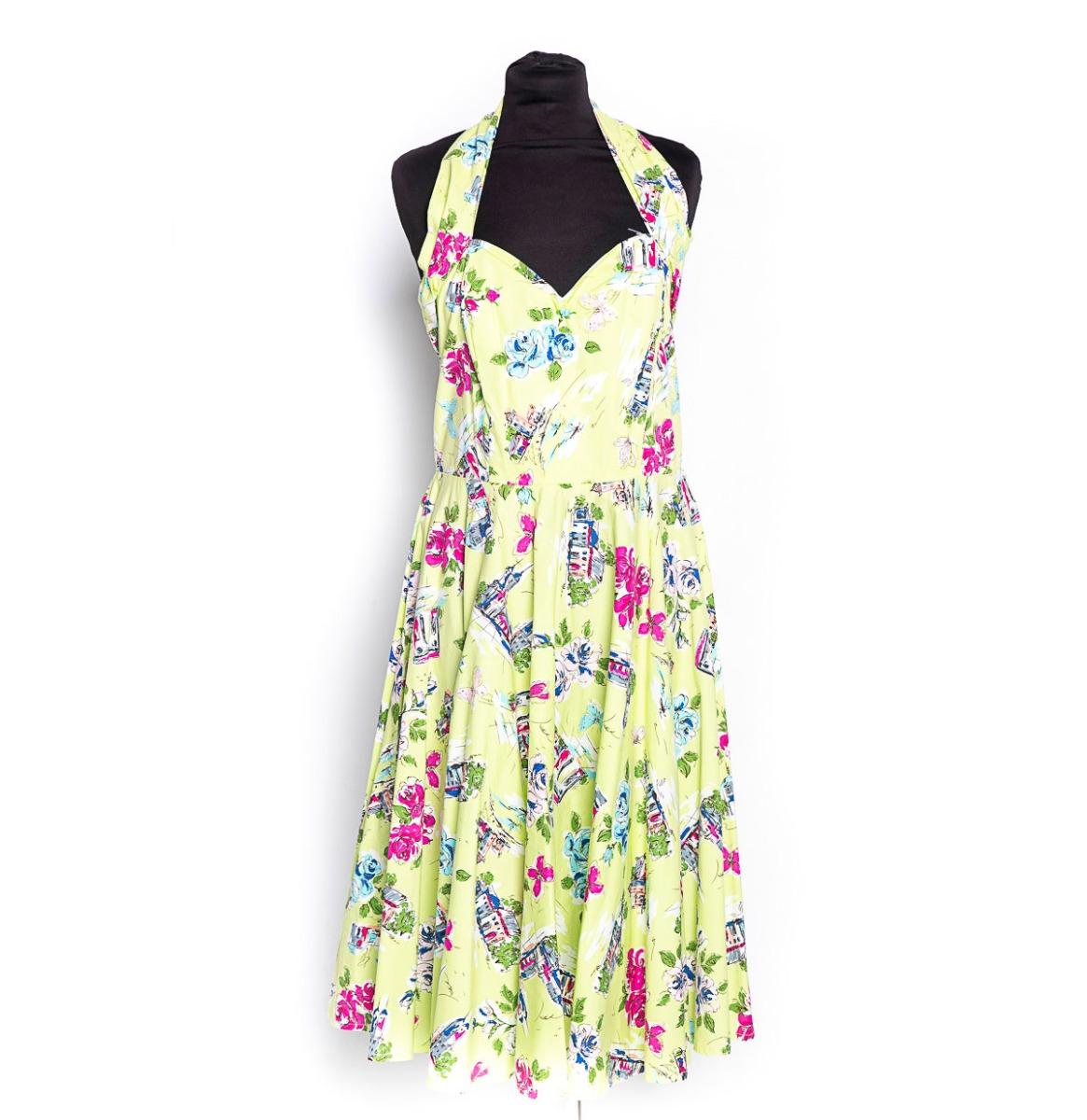 Spring Halter Swing Dress Appelgroen