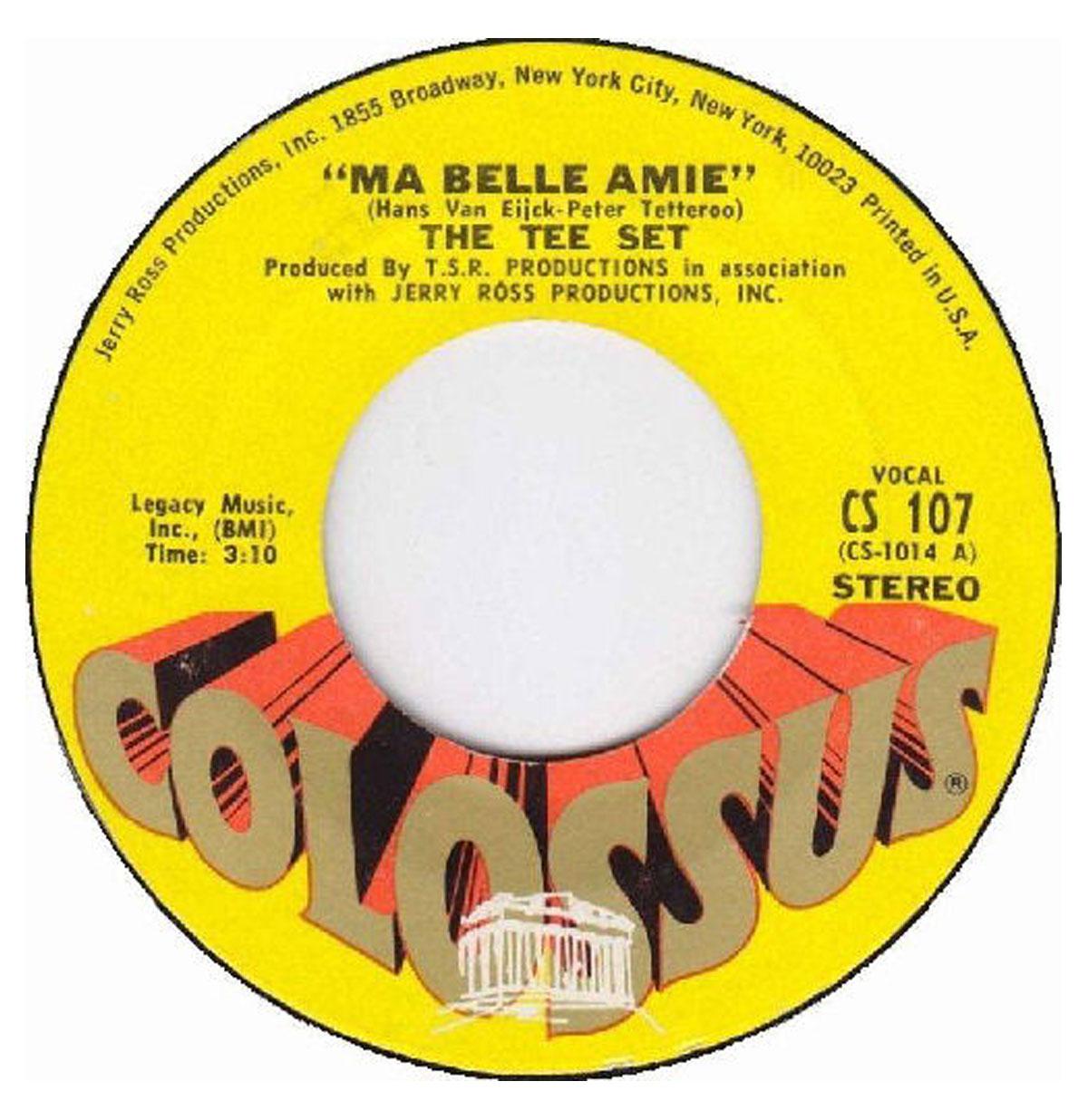 Single: The Tee Set - Ma Belle Amie