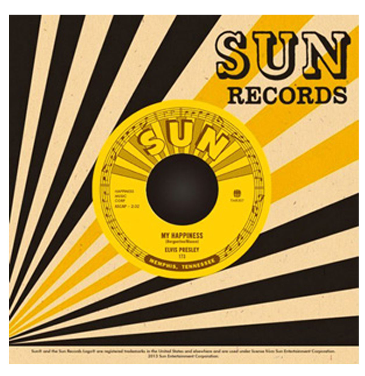 Elvis Presley - My Happiness / That's When Your Heartaches Begin 45 RPM Sun Records