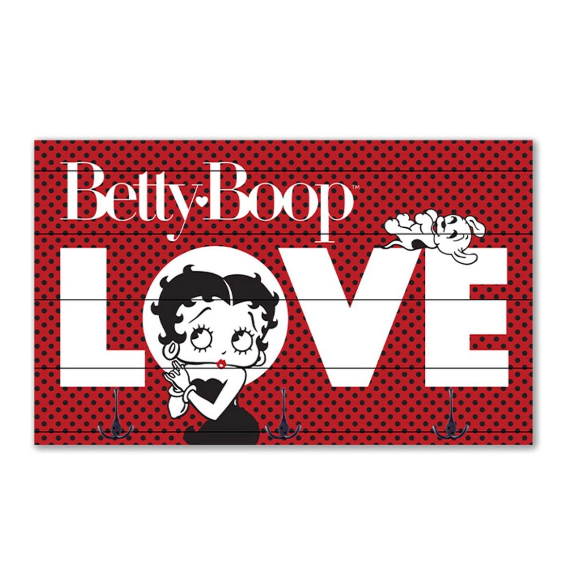 Betty Boop - Houten Kapstok - 50 x 30 cm