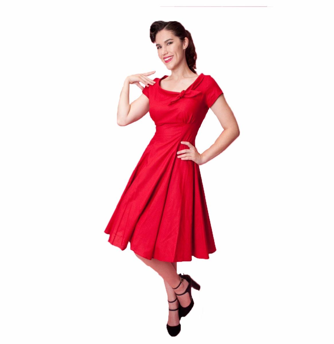 Beverly Dress mini dot red