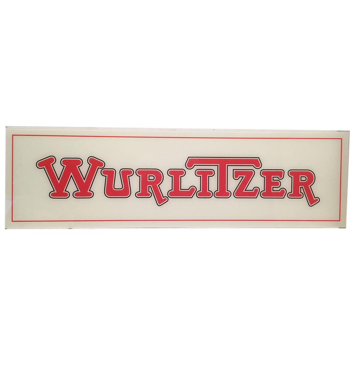 Wurlitzer Logo PVC Reklamebord