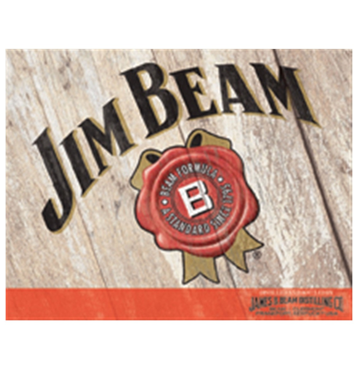 Jim Beam Metalen Bord - 41 x 31 cm