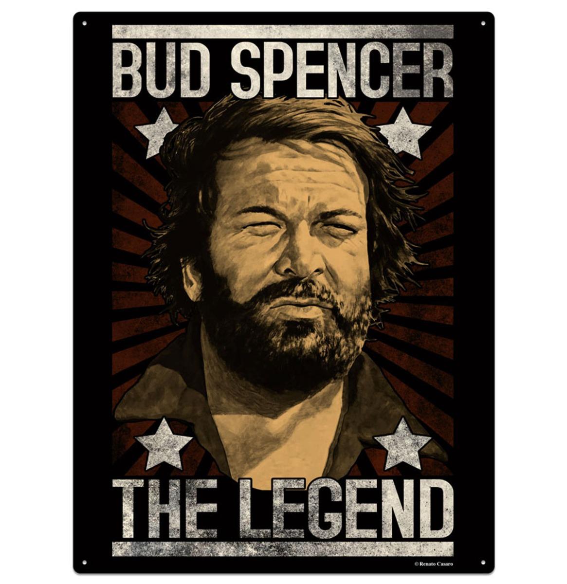 Bud Spencer The Legend Metalen Bord 30 x 40 cm