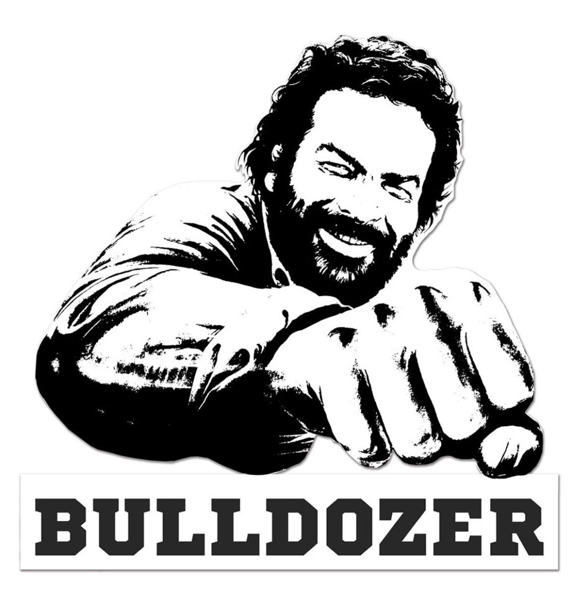 Bud Spencer Bulldozer Metalen Bord 45 x 45 cm