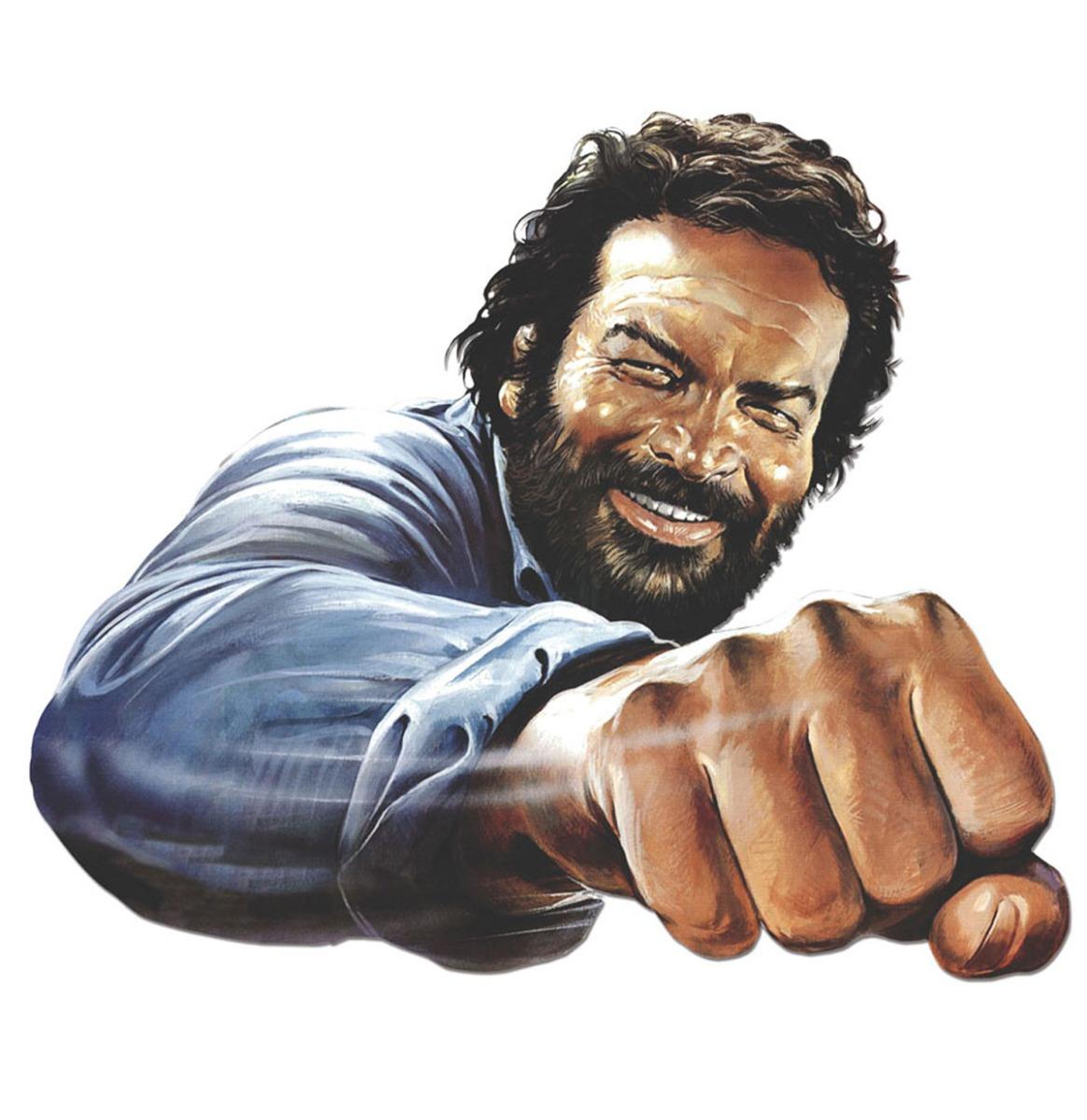 Bud Spencer Fist Metalen Bord 45 x 45 cm