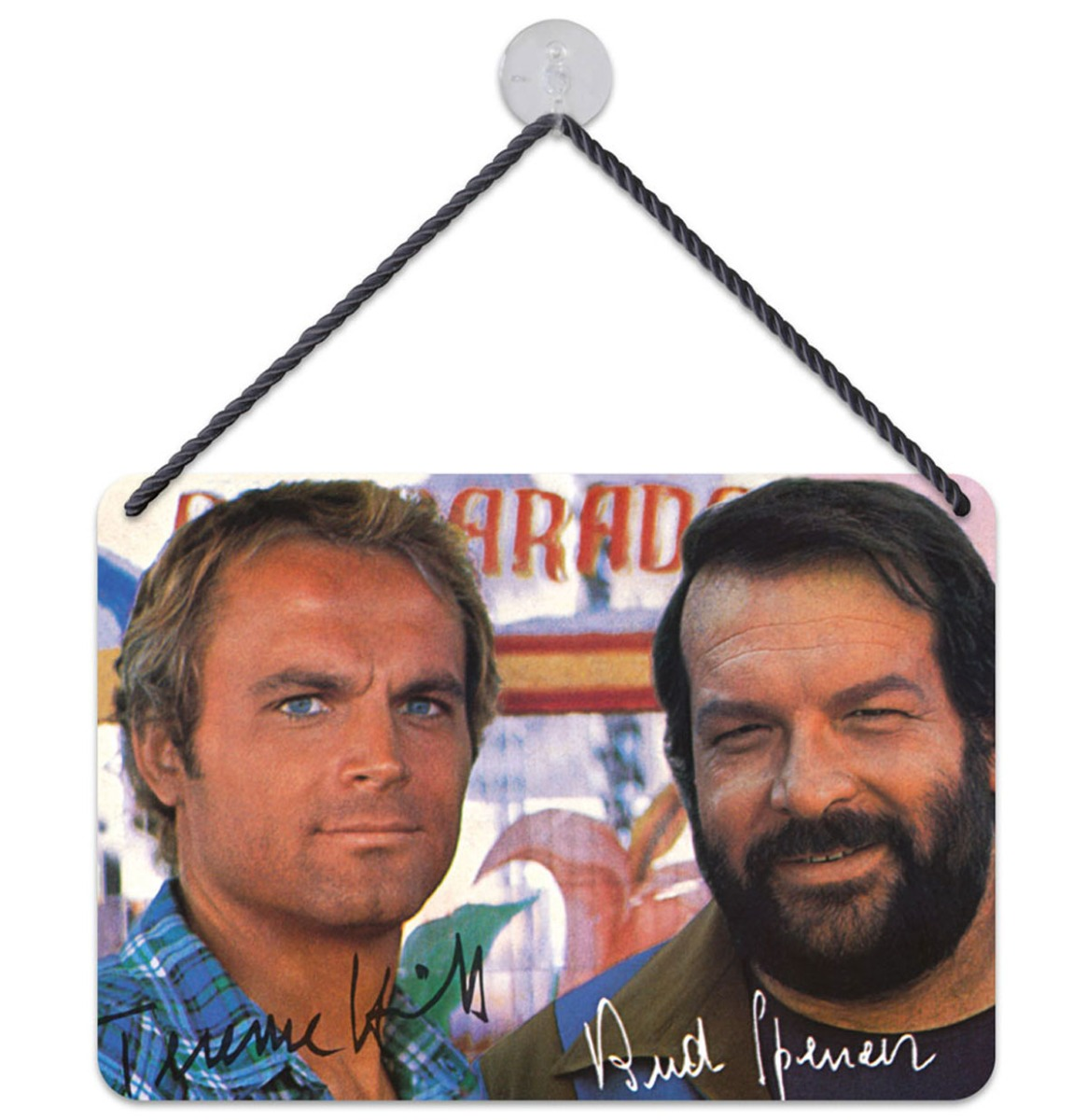 Bud Spencer Terence Hill Autograph Hangend Bord 16,5 x 11,5 cm