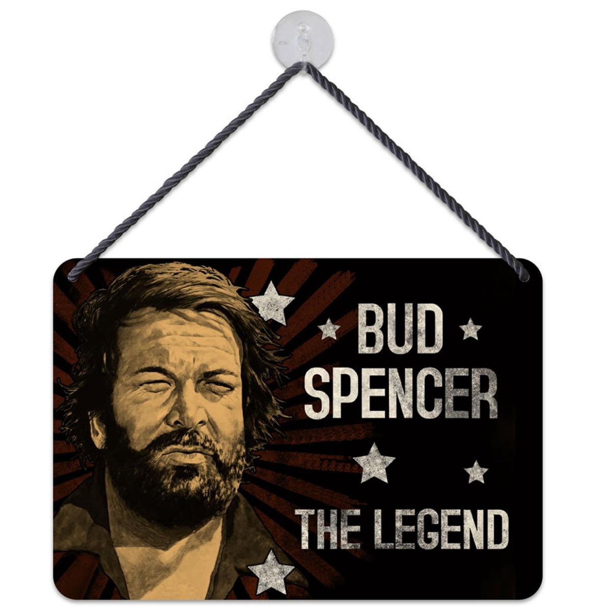 Bud Spencer The Legend Hangend Bord 16,5 x 11,5 cm