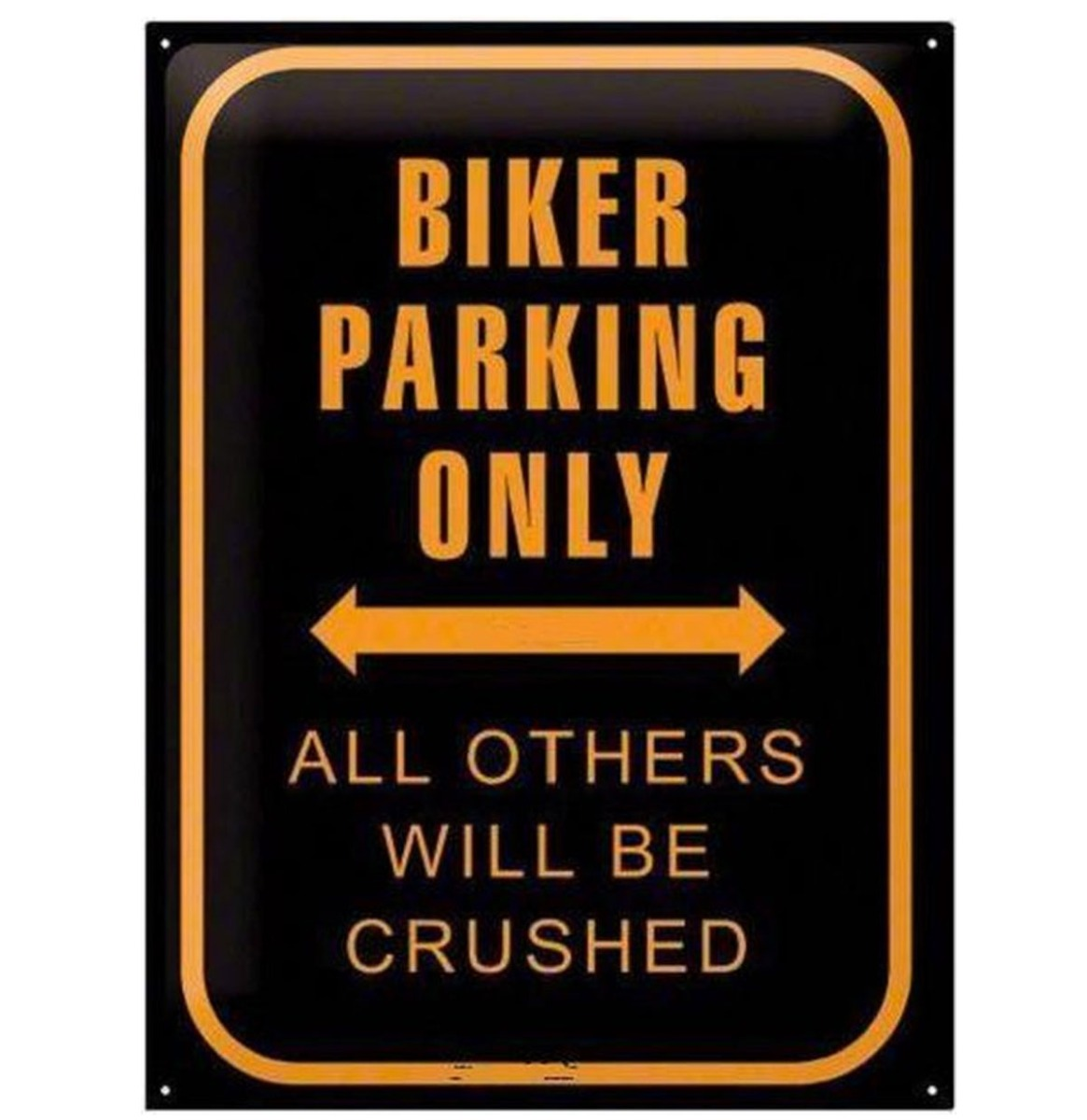 Biker Parking Only Metalen Bord 30 x 40 cm