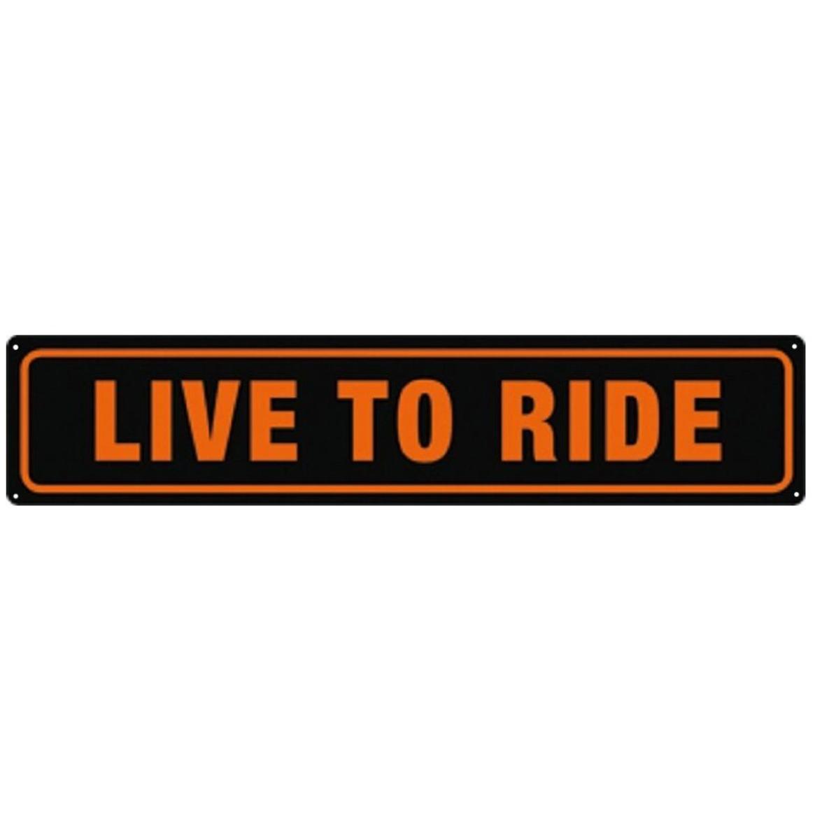Live To Ride Metalen Bord 46 x 10 cm