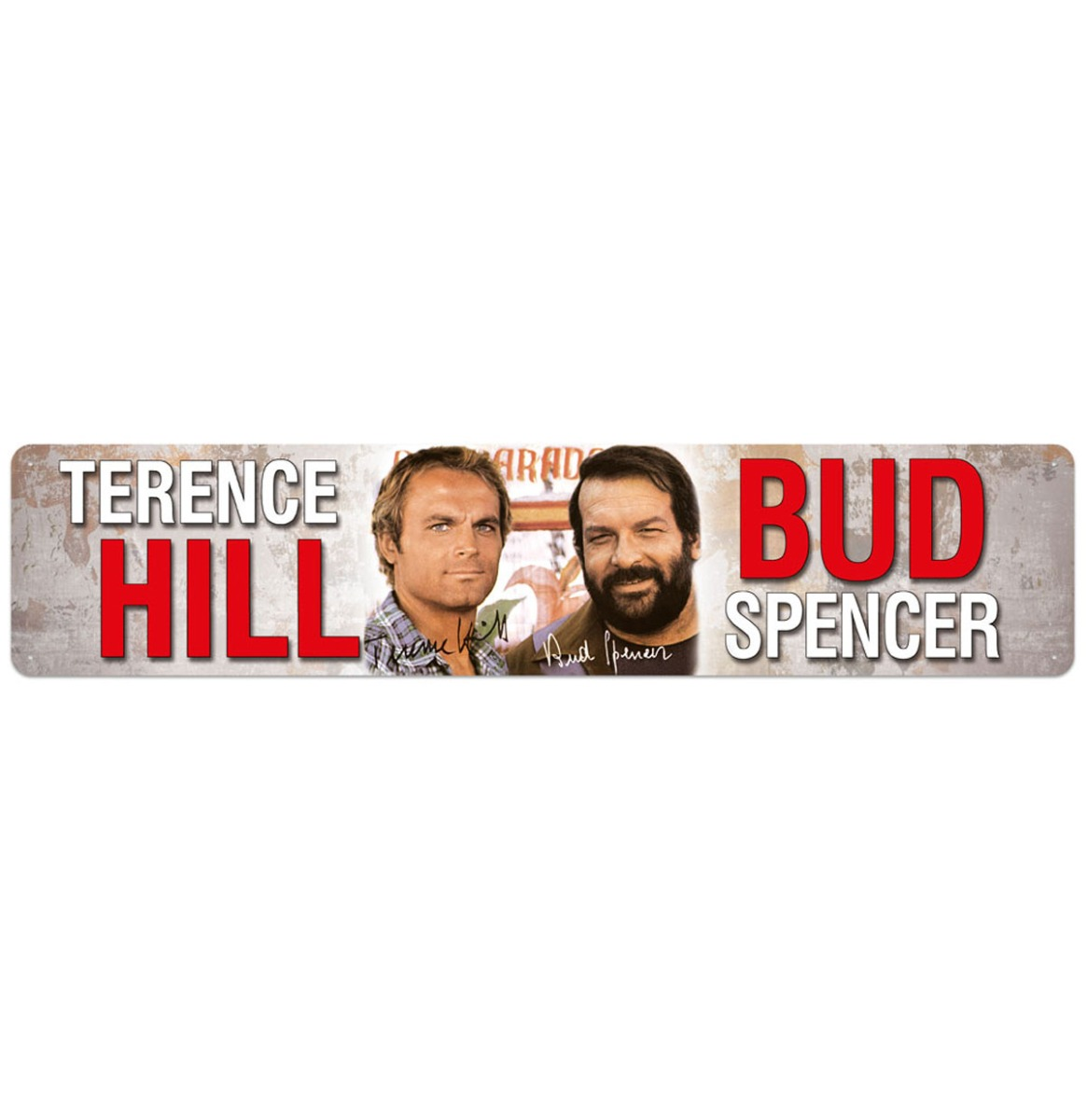 Bud Spencer Terence Hill Autograph Straatbord 46 x 10 cm