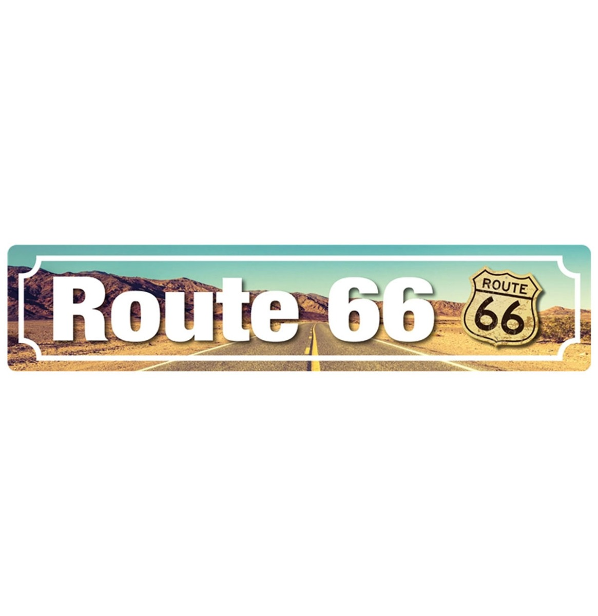 Route 66 Street Sign Magneet 16 x 3.5 cm