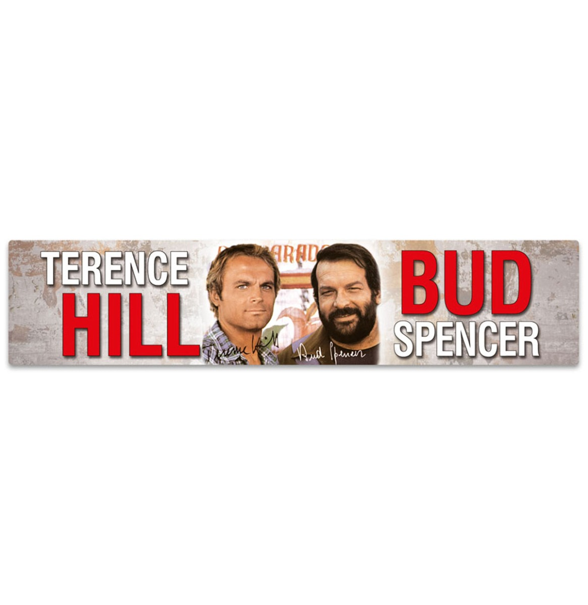 Bud Spencer Terence Hill Street Sign Magneet 16 x 3,5 cm