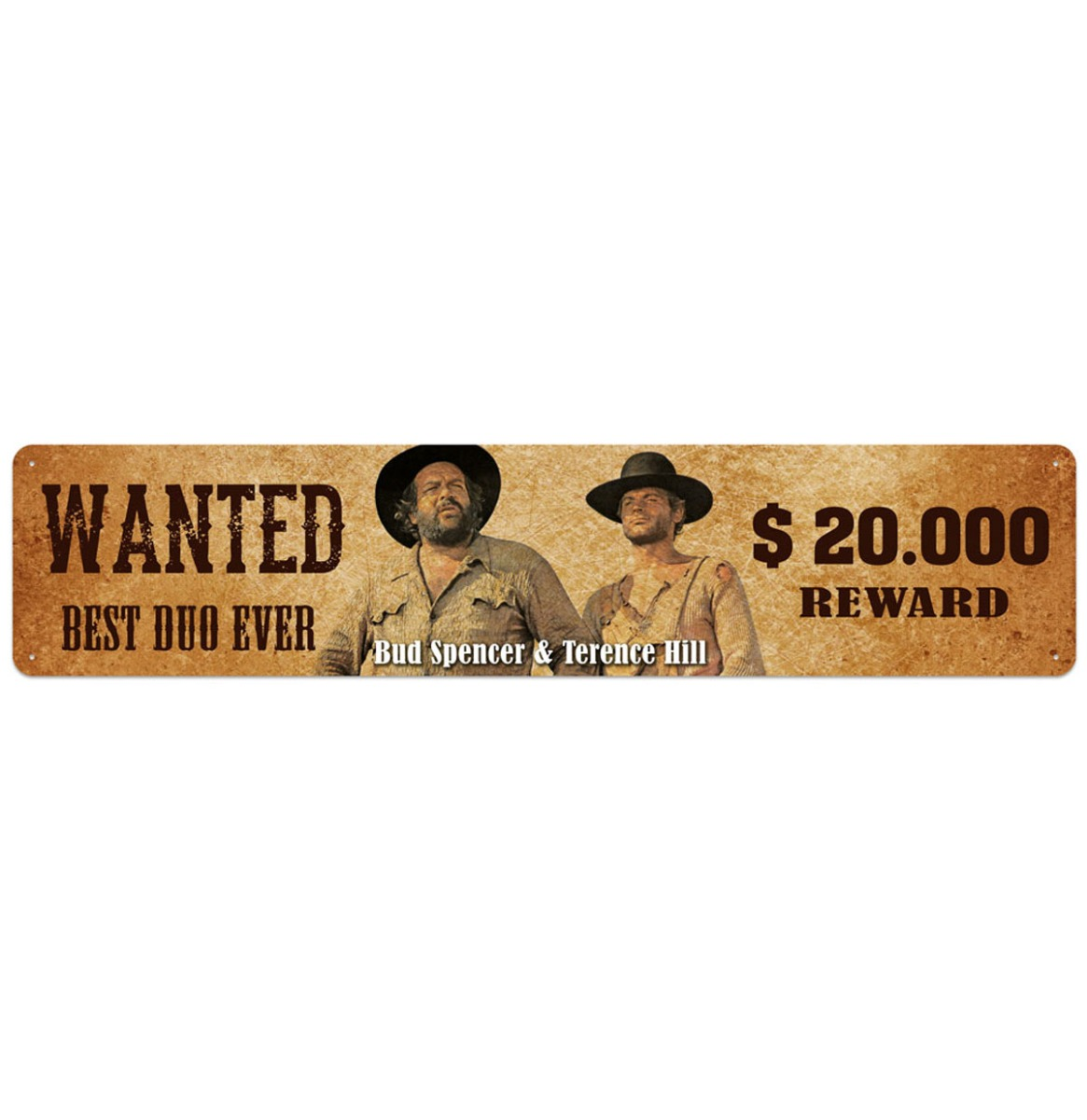Bud Spencer Terence Hill Best Duo Ever Reward 20.000 Straatbord 46 x 10 cm